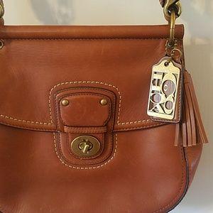 Coach Bags - Coach leather crossbody saddle bag